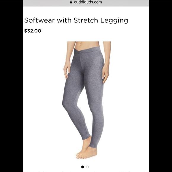 658b91aabee8fa Cuddl Duds Pants - Cuddl Duds Software w/Stretch Legging Size Medium
